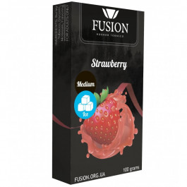 Табак Fusion Ice Strawberry Medium line (Фьюжн Айс Клубника) 100 грамм