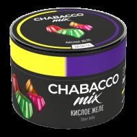 Бестабачная смесь Chabacco MIX Medium Sour Jelly (Чабакко Кислое Желе) 50 грамм