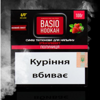 Табак Basio Hookah Strawberry (Базио Хука Клубника) 100 грамм