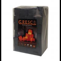 Уголь для кальяна ореховый Gresco без коробки (Греско)1кг
