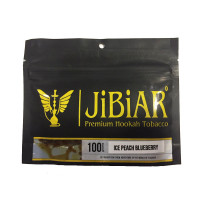 Табак Jibiar Ice Peach Blueberry (Джибиар Айс Персик Черника) 100 грамм